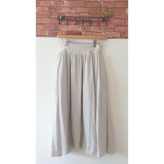 サマンサモスモス(SM2)の◎SM2 綿麻サイドボタンギャザースカート(ロングスカート)