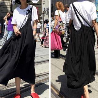 ワンショルダー ブラック スカート(ロングスカート)