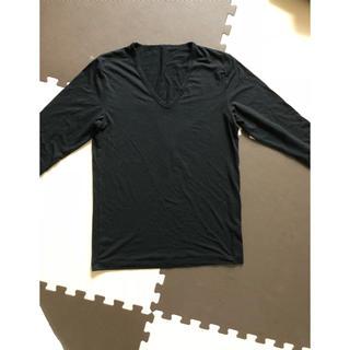 ジーユー(GU)のVネック長袖(Tシャツ/カットソー(七分/長袖))