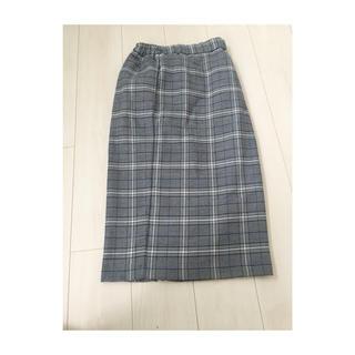 GU チェックタイトスカート