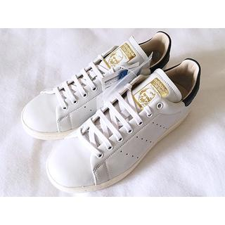 アディダス(adidas)の新品 スタンスミス リーコン 22.5 ホワイト レザー 専用箱 ネイビー 紺(スニーカー)