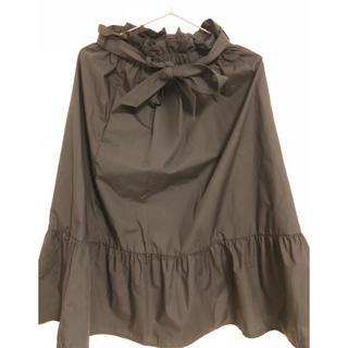 ユニクロ(UNIQLO)のUNIQLO フレアスカート S ブラック(ロングスカート)