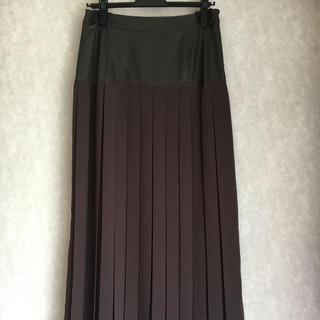 ミーア(MIIA)の新品❣️ MIIA  レザー切替プリーツロングスカート(ロングスカート)