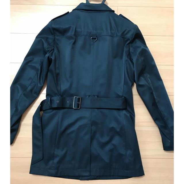 TETE HOMME(テットオム)のTETE HOMME  黒 トレンチコート メンズのジャケット/アウター(トレンチコート)の商品写真