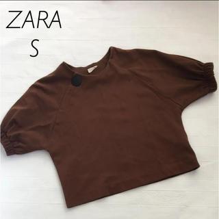 ザラ(ZARA)のZARA ボタン付き トップス Sサイズ(カットソー(半袖/袖なし))