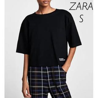 ザラ(ZARA)のZARA ショルダーパッド付き Tシャツ Sサイズ(Tシャツ(半袖/袖なし))