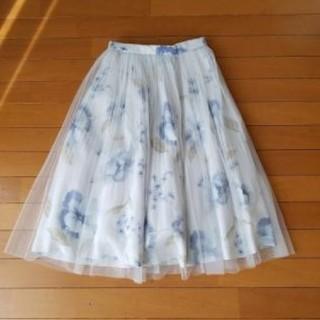 Neela 花柄 シフォン 新品タグ付スカート S(ロングスカート)