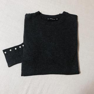 ザラ(ZARA)のzara ザラ パールニット グレー 人気商品(ニット/セーター)