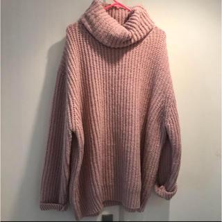 ザラ(ZARA)のZARA H&M ニット 肉厚 韓国 古着 ピンク サンタモニカ(ニット/セーター)