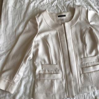 ノーカラージャケット ホワイト