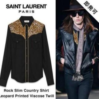 Saint Laurent - サンローラン レオパードシャツ ハンガー付き新品!