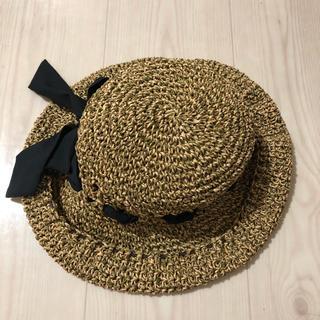 リボンハット(麦わら帽子/ストローハット)