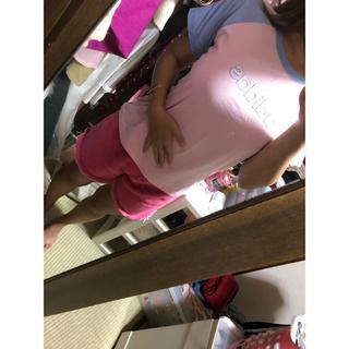 アディダス(adidas)の#adidas#Tシャツ#LINE#ピンク💗(Tシャツ(半袖/袖なし))