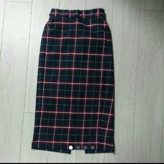 GU*チェック柄タイトスカート