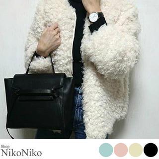 ショップニコニコ(Shop NikoNiko)のシンプルスクエアバック ブラック(ショルダーバッグ)