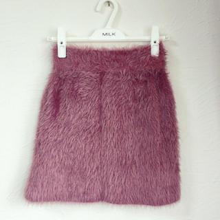 リルリリー(lilLilly)のシャギーニットスカート(ミニスカート)