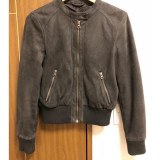 ジーユー(GU)のスエードジャケット(ライダースジャケット)