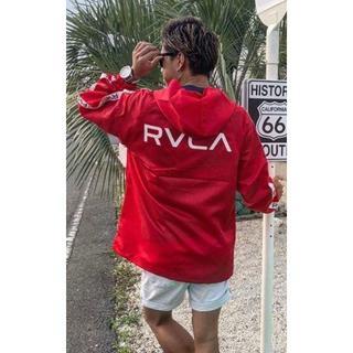 ルーカ(RVCA)の定価込み!!RVCAルーカーアノラックジャケットナイロンプルオーバー赤S(ナイロンジャケット)