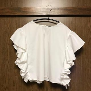ザラ(ZARA)のZARA  白 トップス(カットソー(半袖/袖なし))