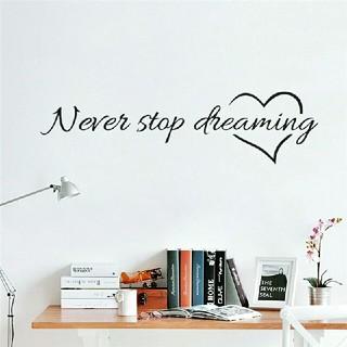 ⭐新品超特価⭐大好評ウォールステッカー✨Never stop dreaming♥