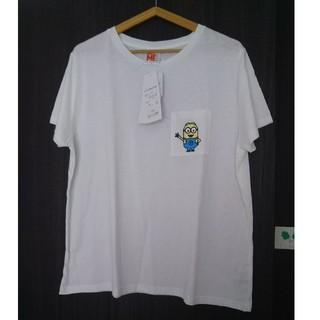 しまむら - ミニオン ワンポイント Tシャツ  3L 大きいサイズ