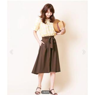 エニィスィス(anySiS)のブラウンスカート*送料込(ひざ丈スカート)