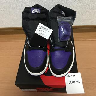 ナイキ(NIKE)のAIR JORDAN 1 RETRO COURT PURPLE  紫 28.0(スニーカー)