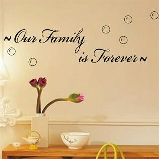 ⭐新品超特価⭐大人気インテリアウォールステッカー⭐✨私たち家族は永遠✨