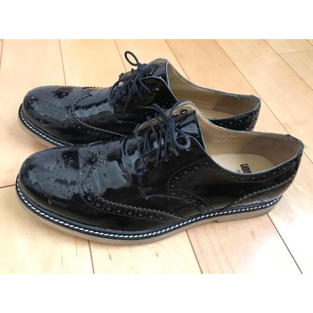 SHIPS(シップス)のエナメル ウイングチップ SHIPS JET BLUE 26.5cm《美品》 メンズの靴/シューズ(ドレス/ビジネス)の商品写真