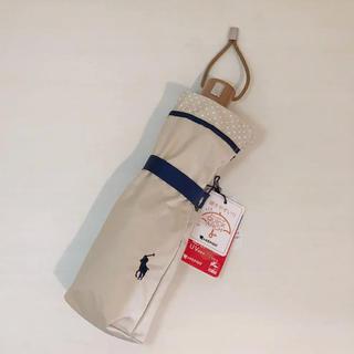 ポロラルフローレン(POLO RALPH LAUREN)の新品❤️ポロ ラルフローレン ドットフリル 晴雨兼用折りたたみ傘(傘)
