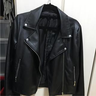 ジーユー(GU)のGU ライダースジャケット ブラック 黒(ライダースジャケット)