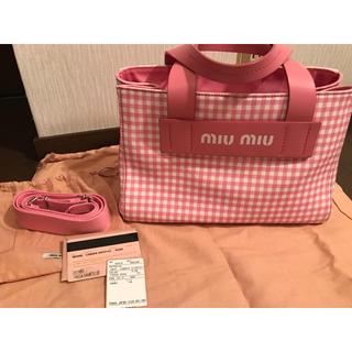 miumiu - ミュウミュウ♡カナパトート ピンク 正規品