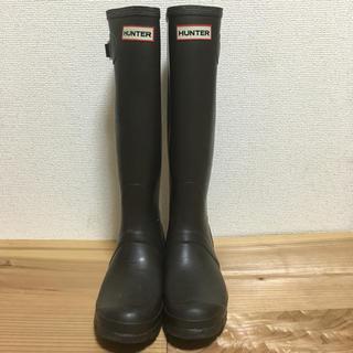ハンター(HUNTER)のハンター レインブーツ ブラウン 37サイズ(レインブーツ/長靴)
