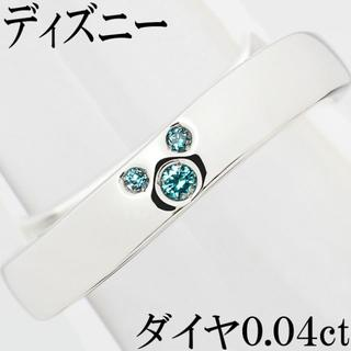ディズニー(Disney)のディズニー ミッキー ブルーダイヤ リング 指輪 メンズ 17.5号(リング(指輪))