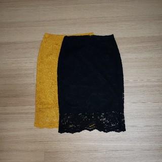 GUレースタイトスカート二枚セット