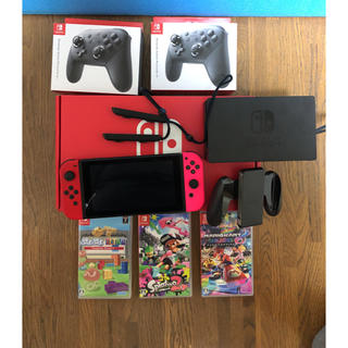 Nintendo Switch - 任天堂 switch(スイッチ) 本体&プロコン×2&人気ソフト3本セット
