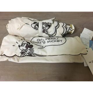 ディズニー(Disney)の新品未使用 w.p.c 晴雨兼用コンパクト折りたたみ傘 ミニーマウス ディズニー(傘)