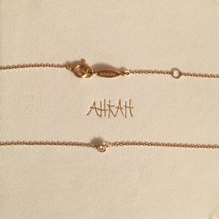AHKAH - 【AHKAH】アーカー ヴィヴィアンクチュール K18 一粒ダイヤネックレス