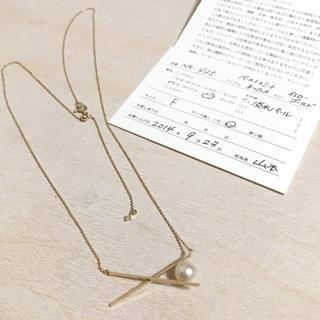 エナソルーナ(Enasoluna)のエナソルーナ k10 淡水パール、ダイヤ、パールトゥネックレス アガットete(ネックレス)