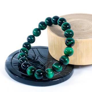 17cm 5A級 極上品質 グリーンタイガーアイ緑虎(10mm)ブレスレット(ブレスレット)