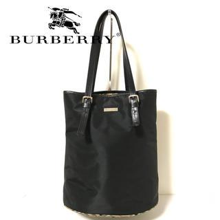 BURBERRY - burberry バーバリー ドラム型 トートバッグ ナイロン チェック