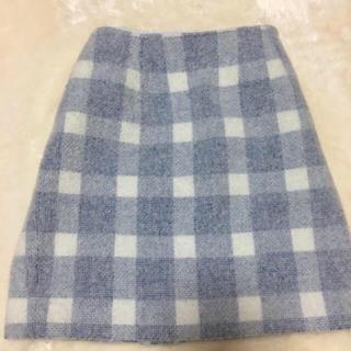トランテアンソンドゥモード(31 Sons de mode)のトランテアン ソンドゥモード パステルブルー 台形スカート(ひざ丈スカート)