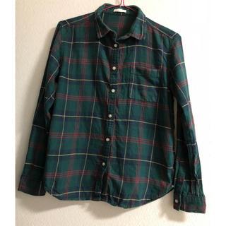 ジーユー(GU)のGU チェックシャツ 緑 S(シャツ/ブラウス(長袖/七分))