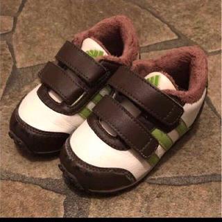 アディダス(adidas)の【adidas 13cm】ボア付きスリーラインスニーカー(スニーカー)