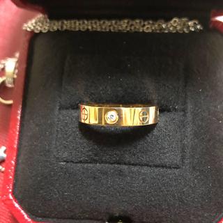 カルティエ(Cartier)のカルティエ 1Pダイヤ PGピンクゴールド ミニラブリング#51(リング(指輪))