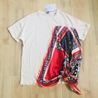 ザラ(ZARA)の新品未使用 今季 ZARA スカーフカットソー(カットソー(半袖/袖なし))