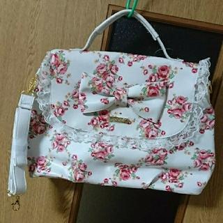 リズリサ(LIZ LISA)の新品 リズリサ ショルダーバッグ 2way リボン レース 花柄 白 送料込み(ショルダーバッグ)