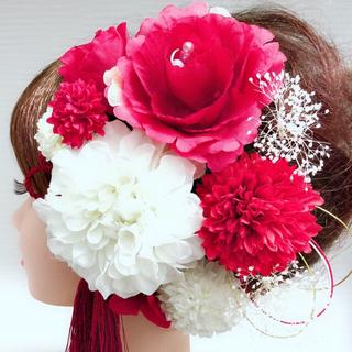 12点セット*紅白カラーの髪飾り*洋装、和装♡カラードレスにも◎(ヘアピン)