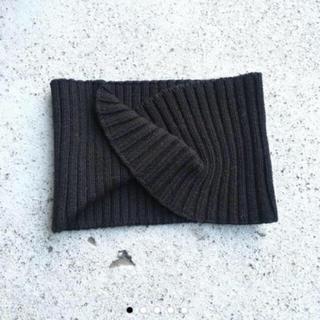 トゥデイフル(TODAYFUL)のTODAYFUL ニットヘアターバン ヘアバンド リブ 秋 冬 黒 ブラック(ヘアバンド)
