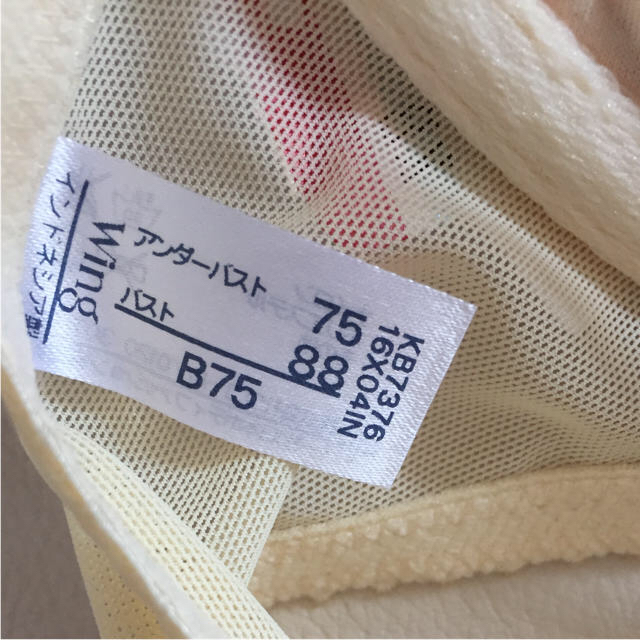 Wacoal(ワコール)のワコール♡ブラジャー B75 ウィング レディースの下着/アンダーウェア(ブラ)の商品写真